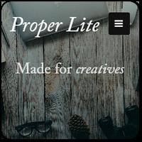 Proper Lite: бесплатная и адаптивная тема WordPress для креативных сайтов
