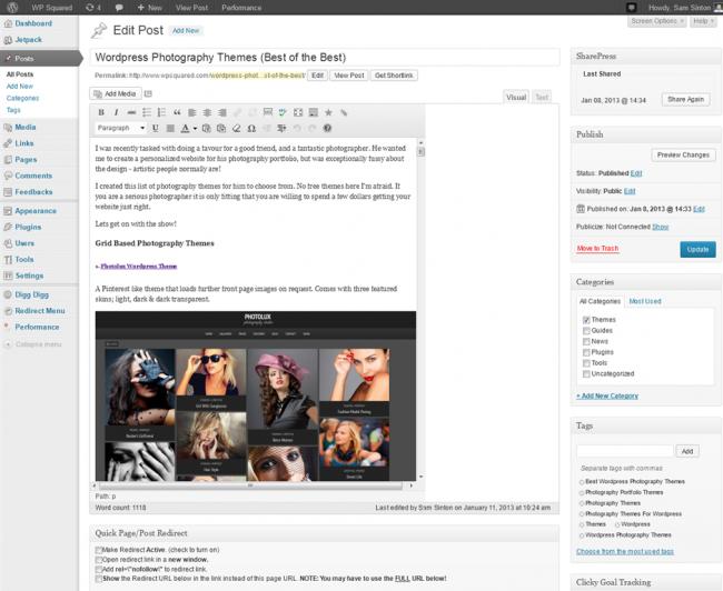 set post editor width 650x532 Как изменить ширину колонки в визуальном редакторе записей WordPress