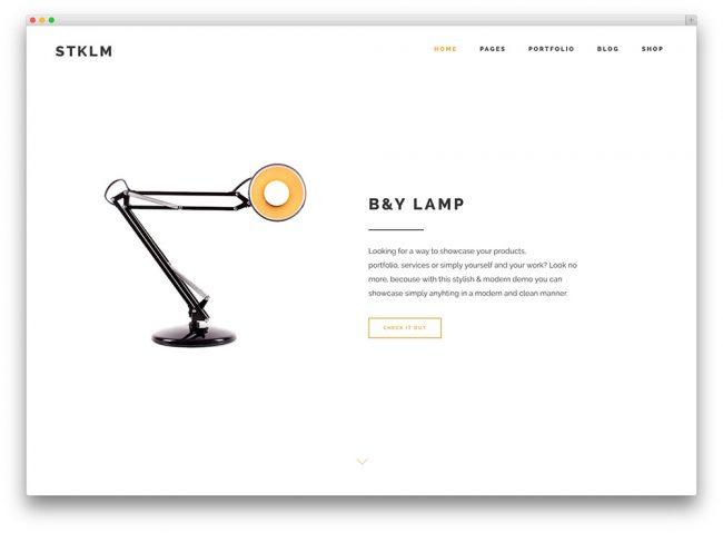тема stockholm для творческих сайтов