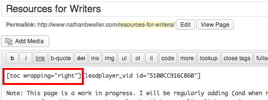 Добавляем содержание на сайте WordPress в стиле Wikipedia