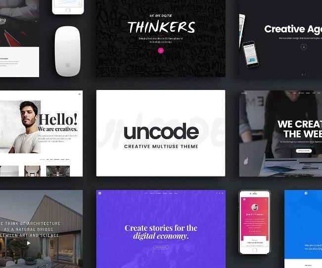тема uncode для творческих сайтов