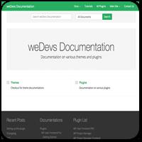 weDocs — бесплатная тема WordPress для сайта документации на основе Bootstrap