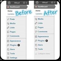 Как удалить ненужные пункты меню в админке на WordPress